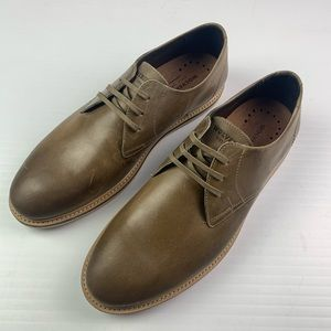 WOLVERINE Mens Oxford Leather Shoes Size 9.5 Tan